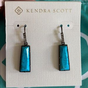 Kendra Scott Angie Luxe Turquoise Earrings